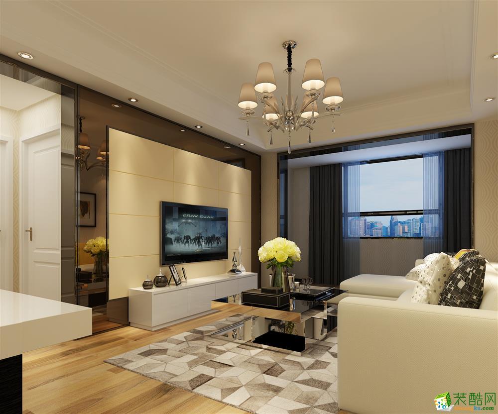綠城誠園96平米簡約風格三室一廳裝修案例圖片