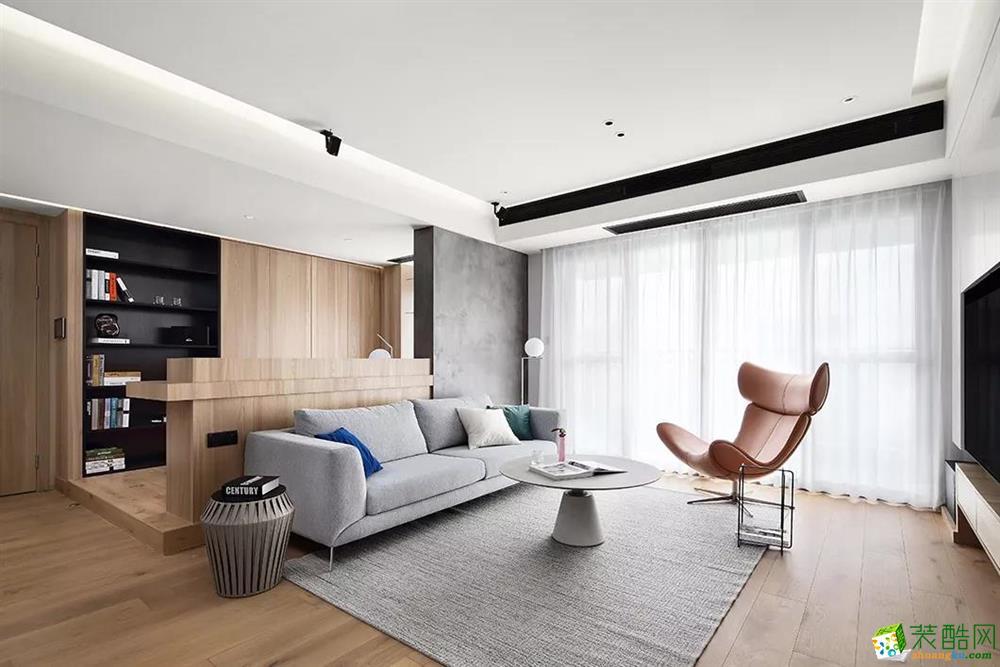 142平米日式风格三室一厅装修设计案例图片