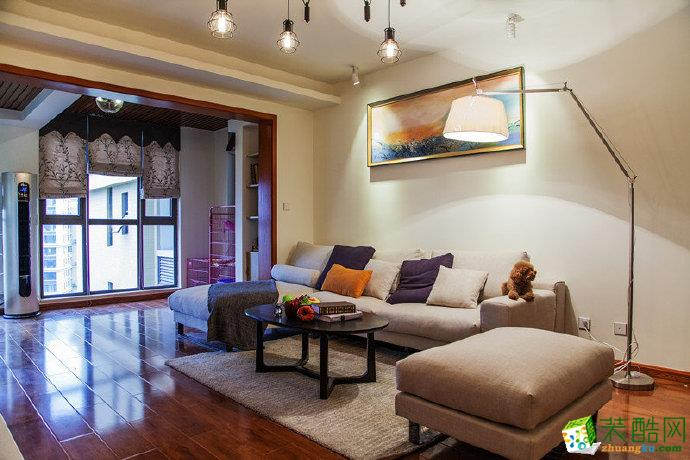 【佳天下裝飾】打通一個臥室與客廳相連,做成一個開放式空間