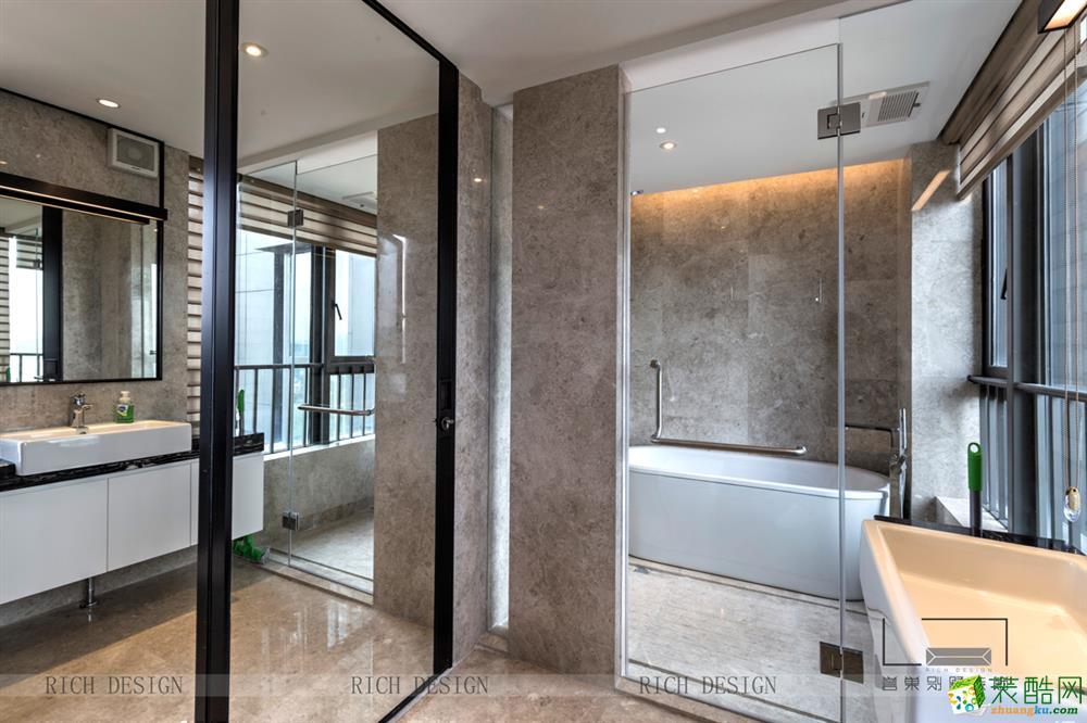 博林天瑞260平米中式风格跃层住宅装修案例图片