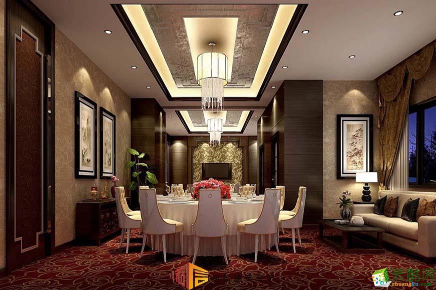 成都酒店装修设计公司-牡丹印象酒楼装修