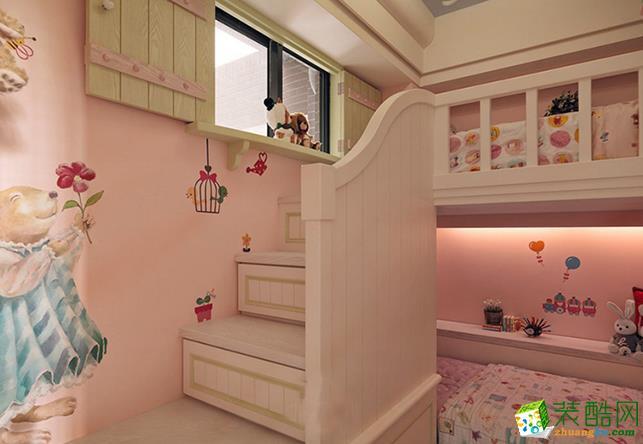 無錫98平米田園兩居室裝修效果圖片