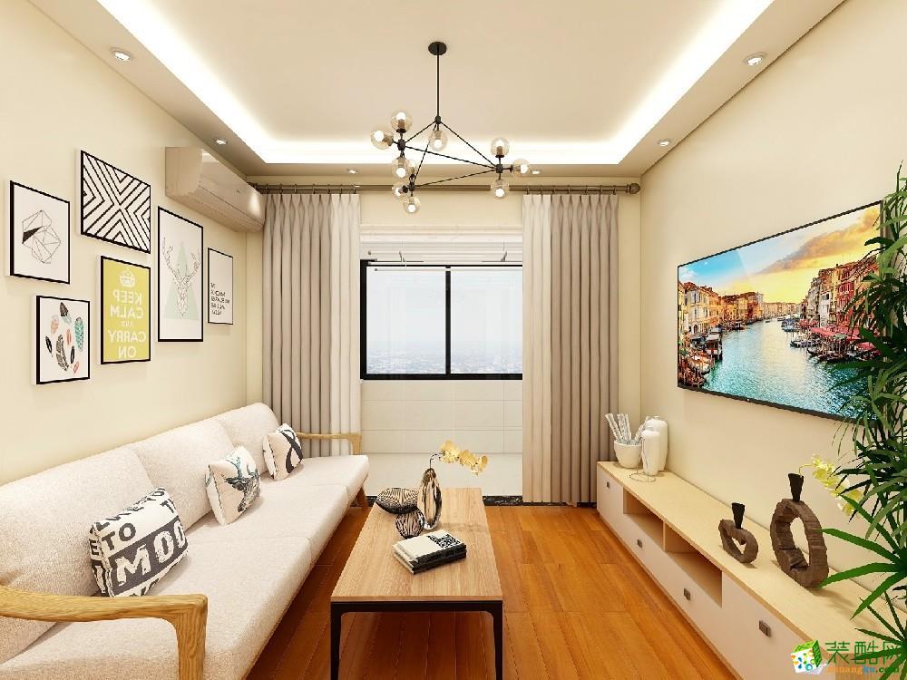 青岛112�O美式三居室装修风格效果图