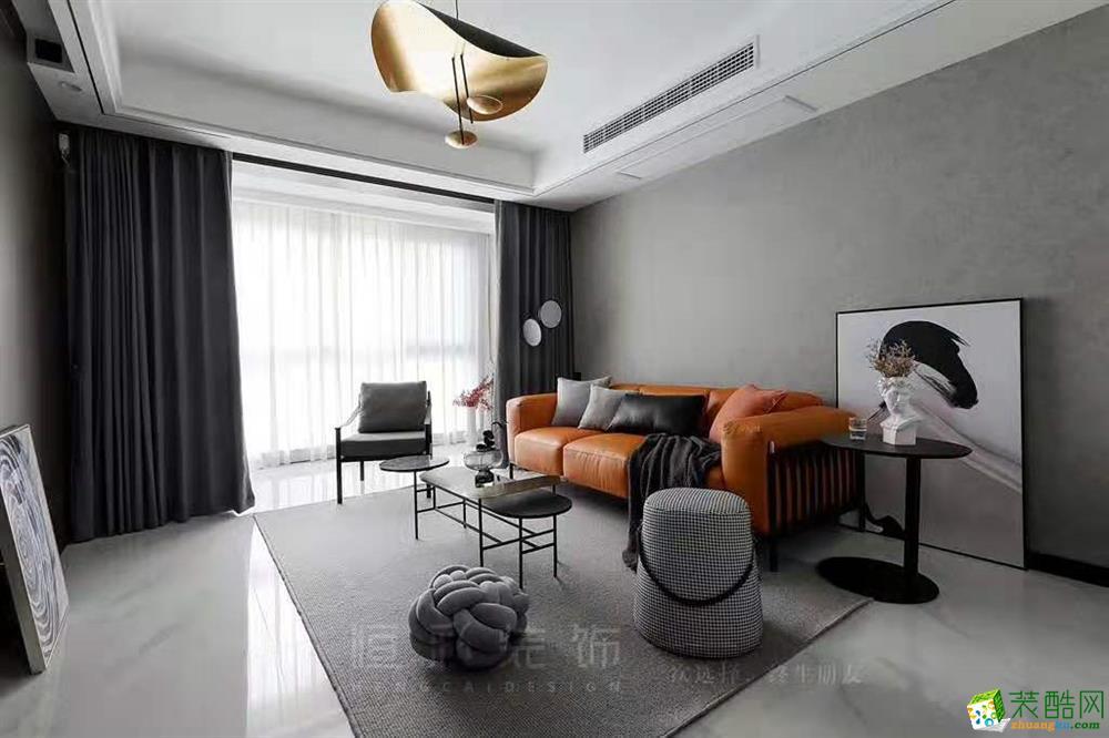 灰色系―未名府89�O两室两厅两卫设计作品