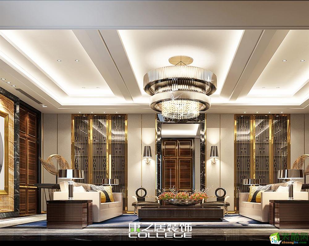 华宸龙隐山355平中式新古典风格设计装修图片案例