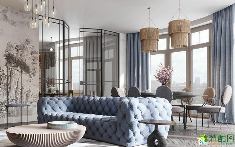 上海474平米别墅五居室软装定制案例图片