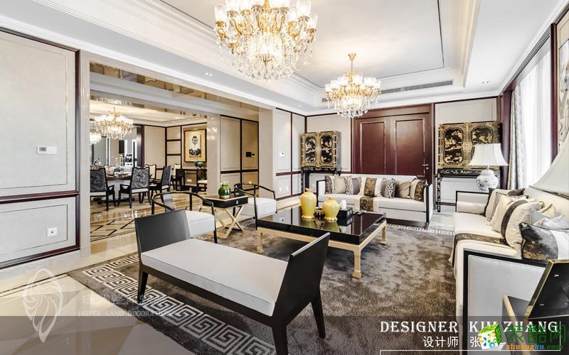 上海485平米别墅住宅新中式风格软装定制案例图片
