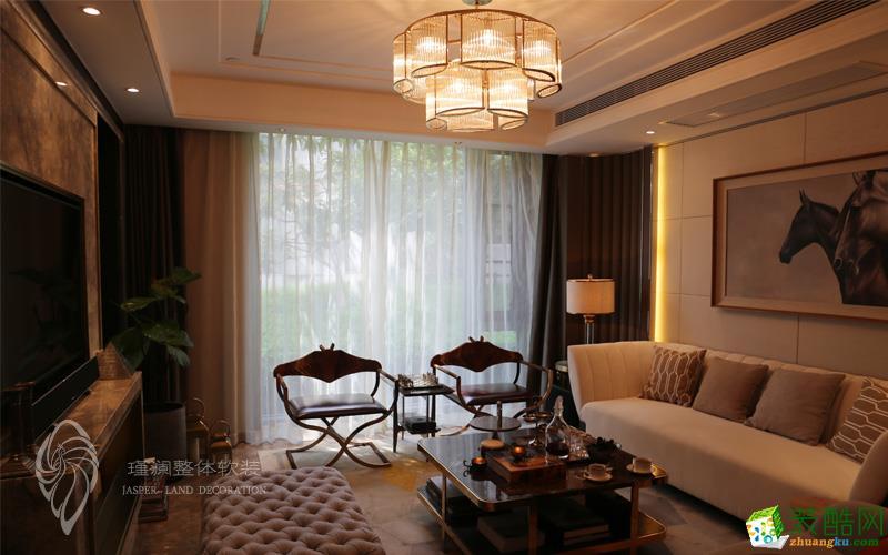 上海159平米现代轻奢四居室全屋软装定制案例图片