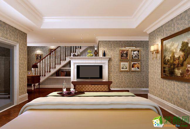 上海350平米美式风格别墅住宅装修案例图片
