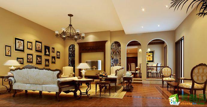 上海300平米新古典风格别墅住宅装修案例图片