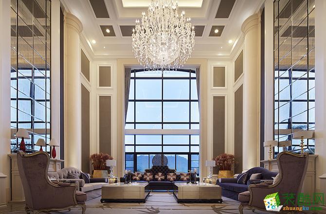 上海300平米简欧风格别墅住宅装修案例图片