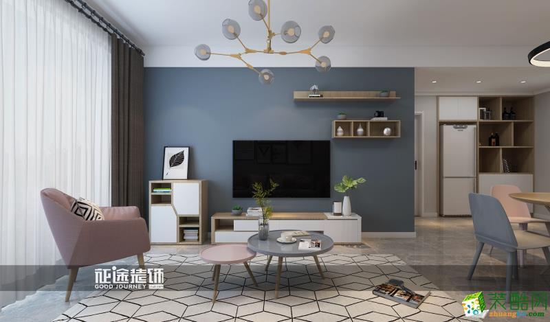 名门绿洲 80�O 北欧风格两室两厅一卫设计作品