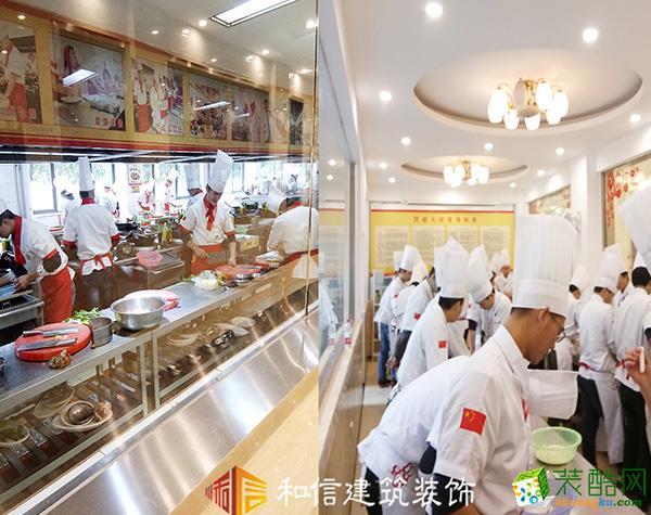新東方烹飪學校6000㎡中式風格裝修案例