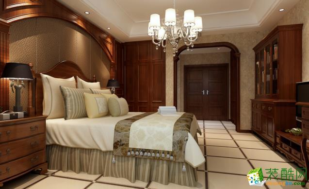 西安130平米美式三居室装修效果图