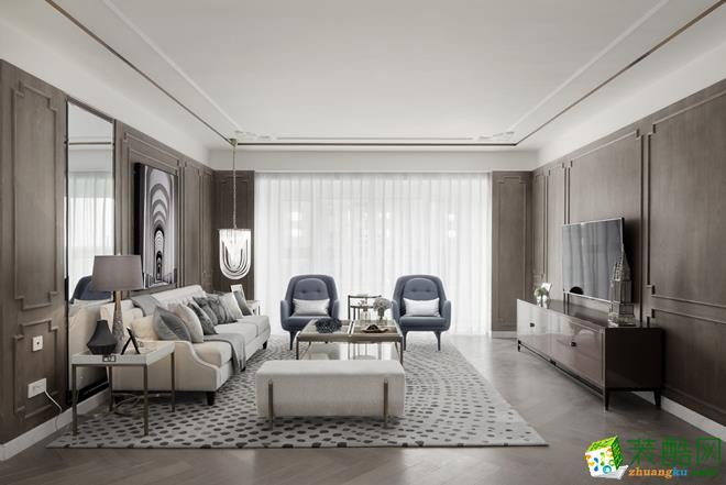 西安158平米现代轻奢风三居室装修效果图