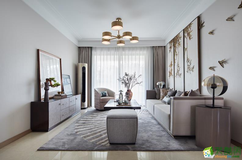 都匀121平米3室新中式风格装修效果图-都匀山石空间装饰