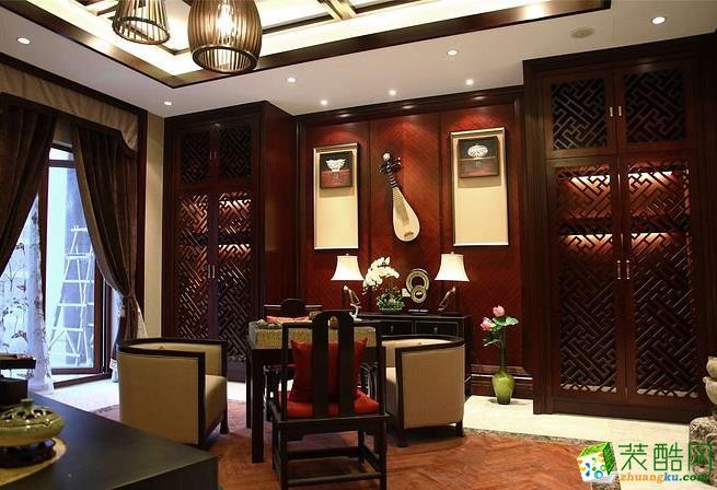 都匀120平3室中式风格装修效果图-爱艺家家居装饰