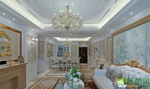 都匀尚100平3室新古典风格装修效果图-爱艺家装饰
