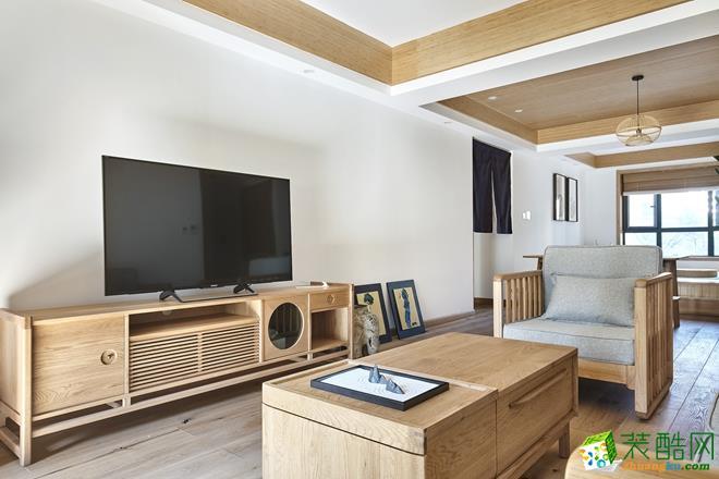 西安170平米日式风格三居室装修效果图