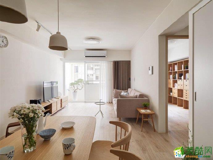 重庆85平米北欧风格三居室装修案例图片