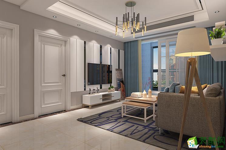 六安紫御府120平3室现代风格装修效果图-家多多装饰