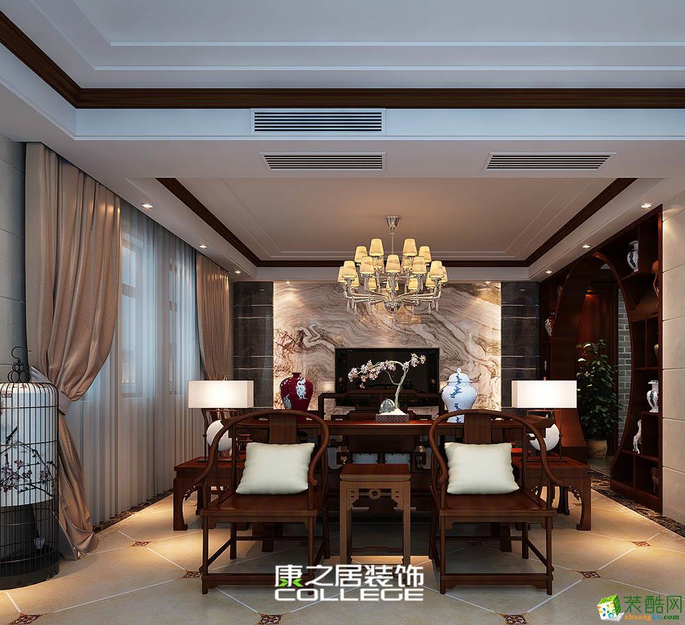 阳光城青山湖大境中式新古典风格装修效果图设计案例
