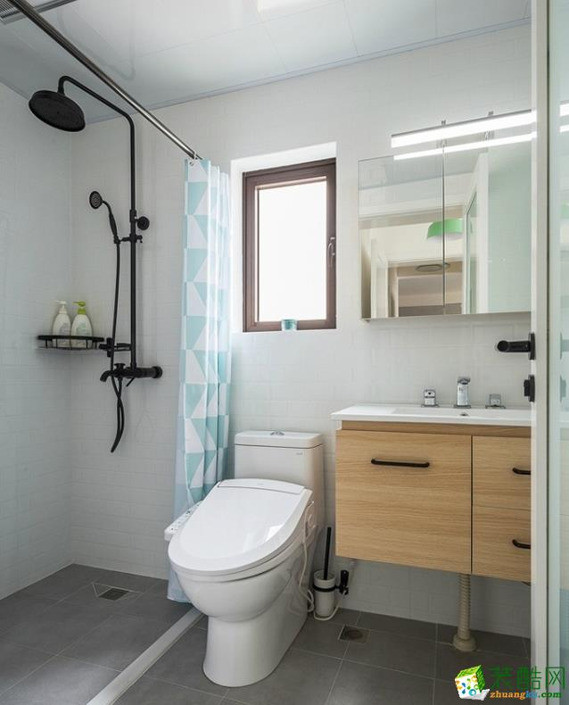 沈阳89平米现代简约两居室装修效果图