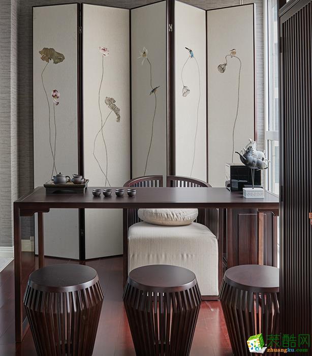 沈阳140平米现代风格四居室装修效果图