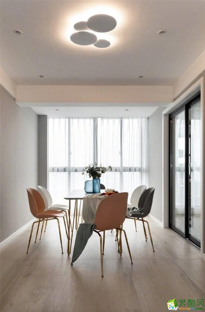 重庆80平米北欧风格两居室装修案例图片