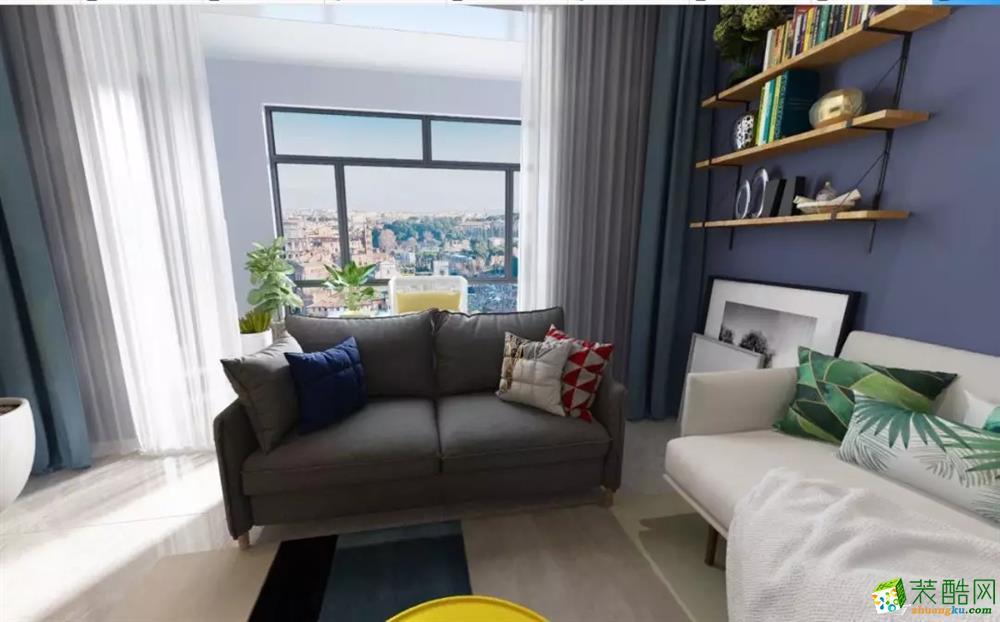 寧波華光城100平三室兩廳北歐風格裝修效果圖