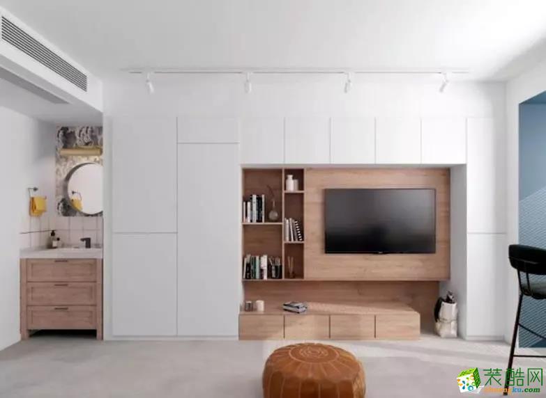 天津55�O小户型一室一厅装修案例图片