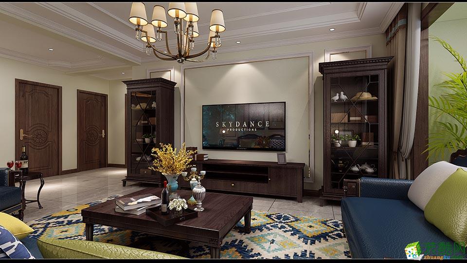 南充140平米四居室美式风格装修案例图片