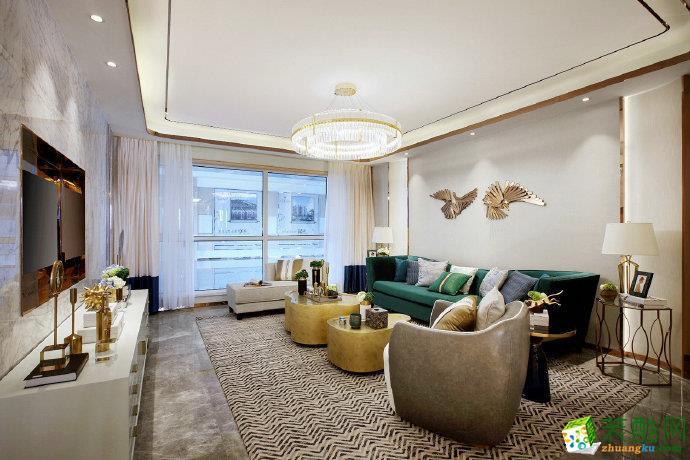 【佳天下装饰】90平现代轻奢风格家居装修设计