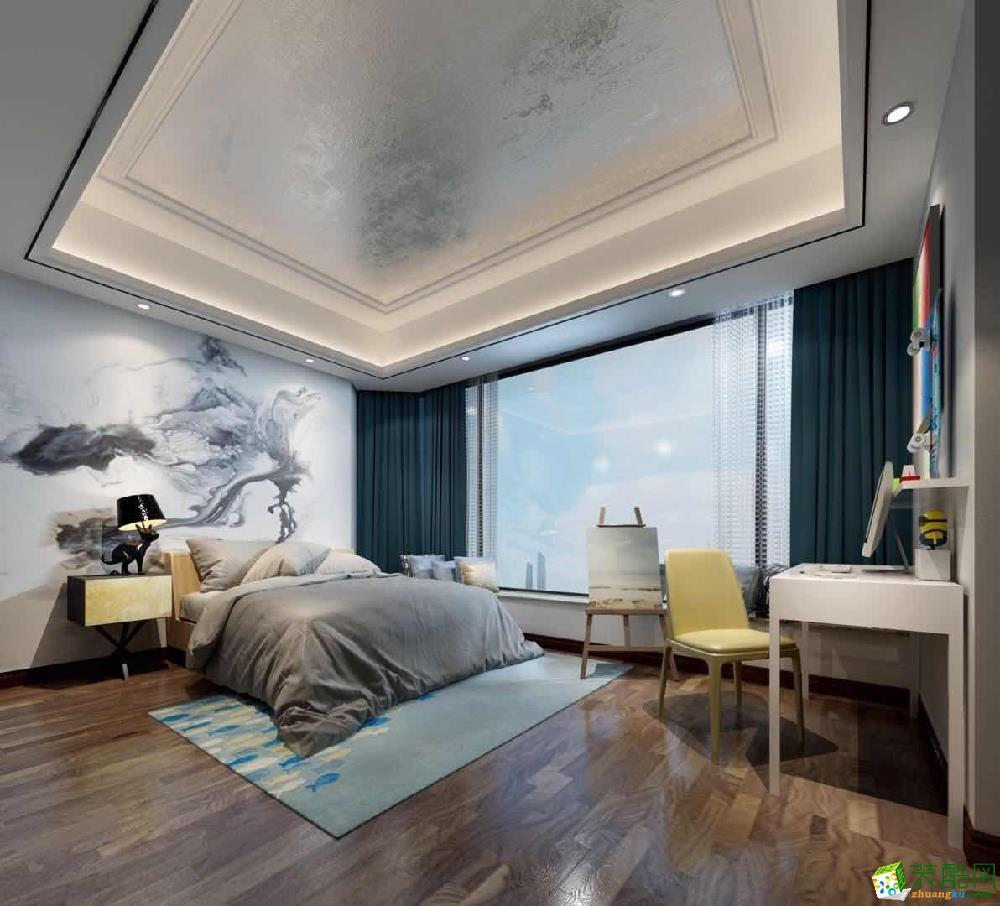 广州150�O新中式三居装修效果图