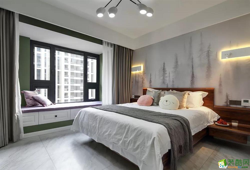 125平简约三居,喜欢卧室背景墙