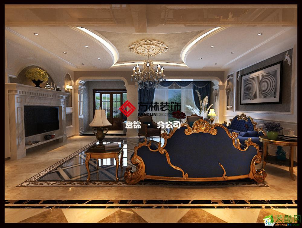 盘锦巴塞罗那三期洋房300平欧式装修案例装修效果图