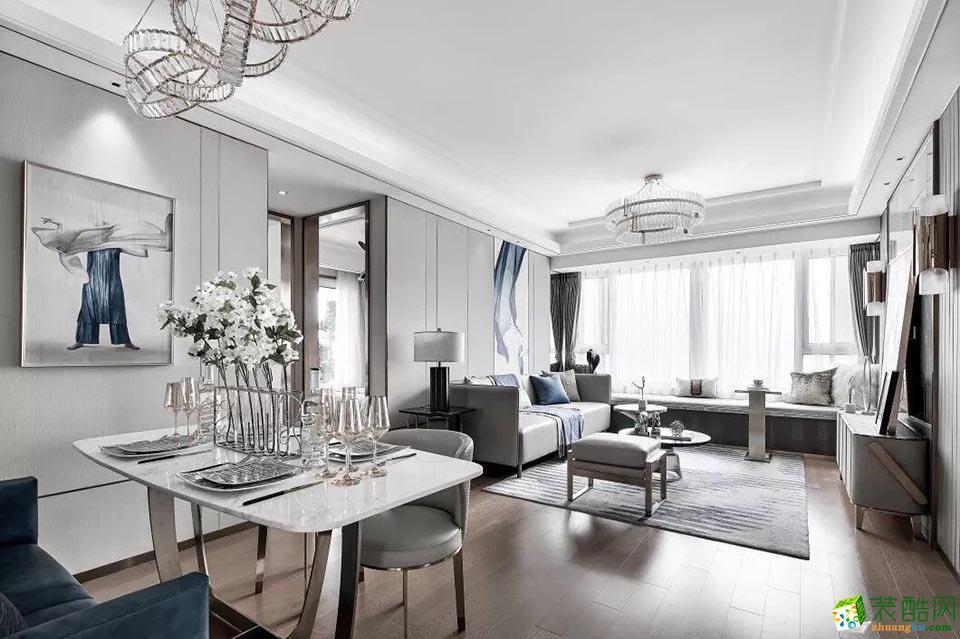 重庆140平米现代风格三居室装修案例图片