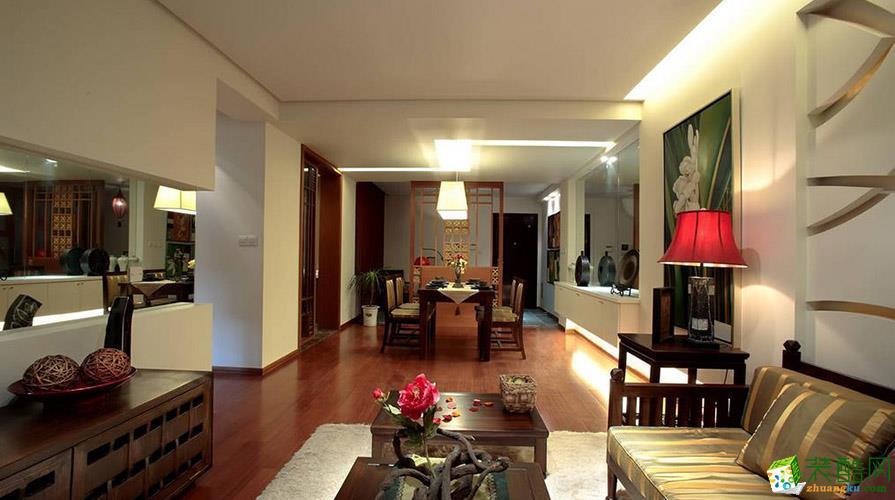 重庆130平米东南亚风格三居室装修案例效果图片