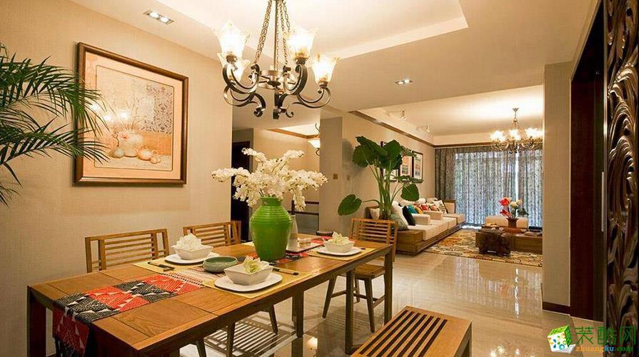 重庆180平米东南亚风格复式楼装修效果图片