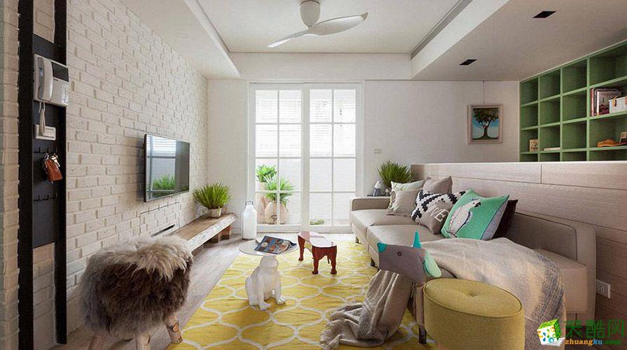 重慶110平米田園風格三居室裝修案例效果圖片