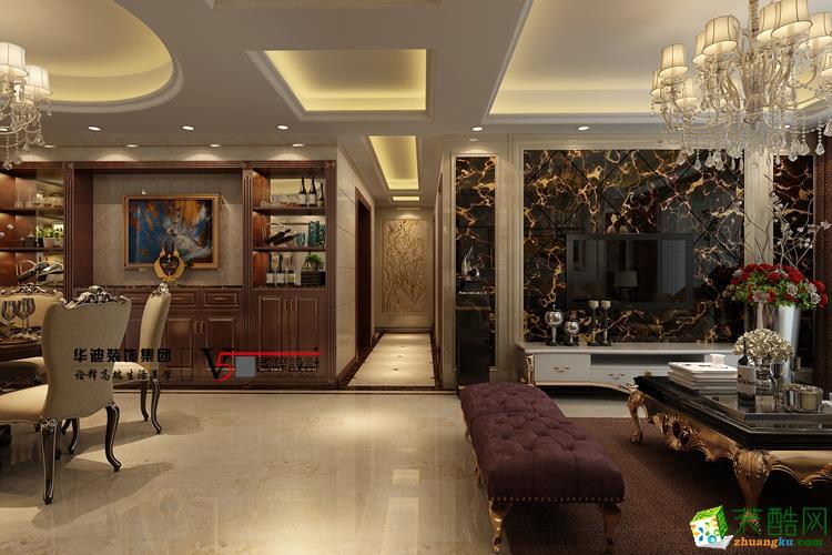 滨湖假日金榈园130�O欧式风格设计作品