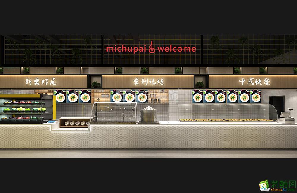 京创装饰 郑州400平工业风美食广场装修设计效果图