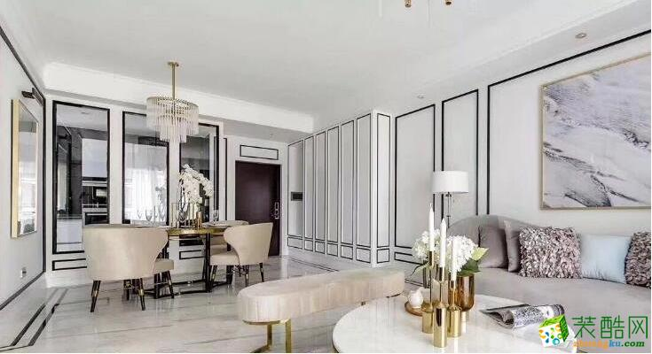 峰光无限装饰中建西派国际城122平现代风格