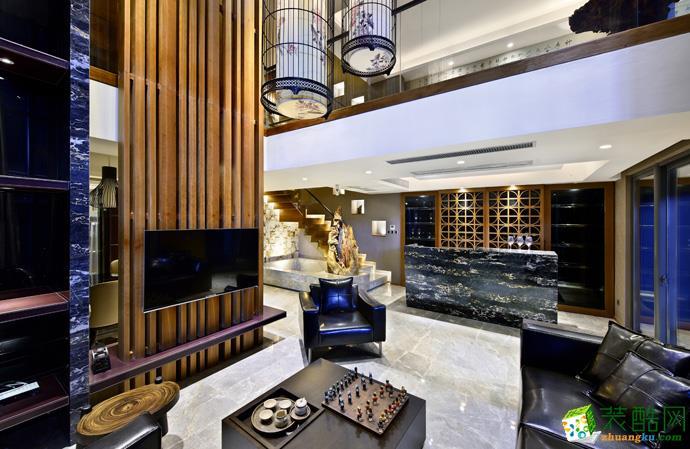 南昌腾坤装饰-恒力城样板房500平现代装修案例