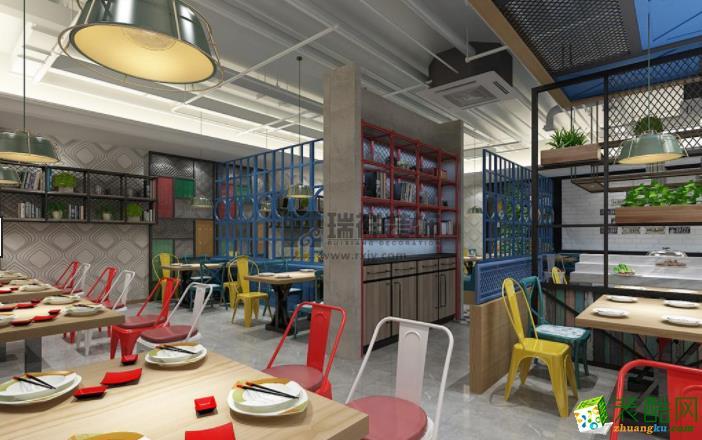 濟南300平米餐廳裝修效果圖