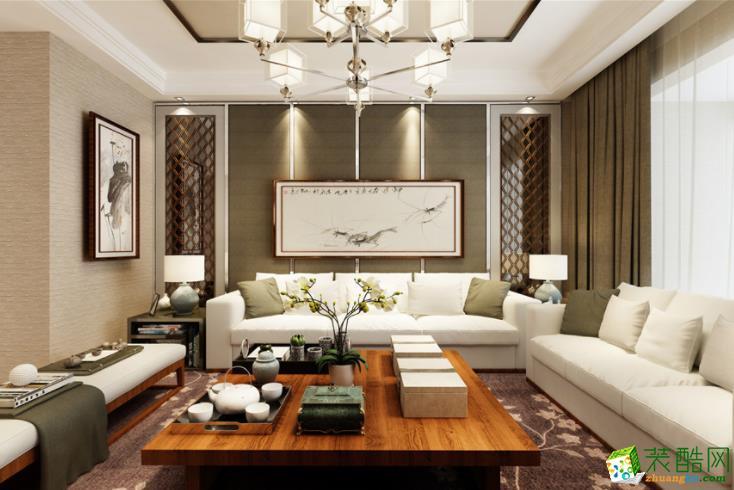 实地蔷薇国际130平米新中式风格装修案例