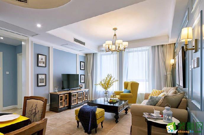 【佳天下装饰】100m2美式混搭风格家居装修设计案例