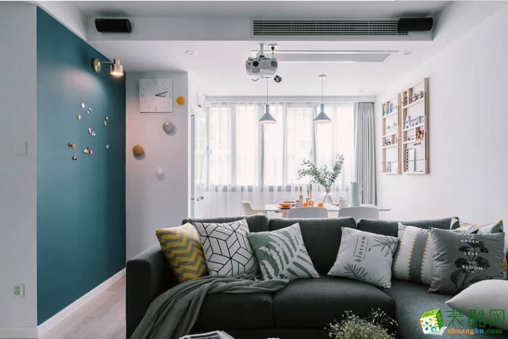 遵义130平北欧三居室装修案例
