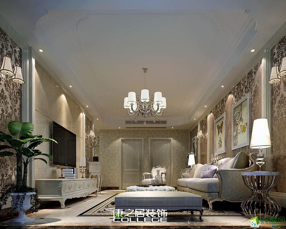 紫荆城三房地中海风格设计家居装修案例效果图