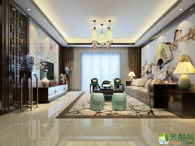 中式风格四居室153平装修效果图